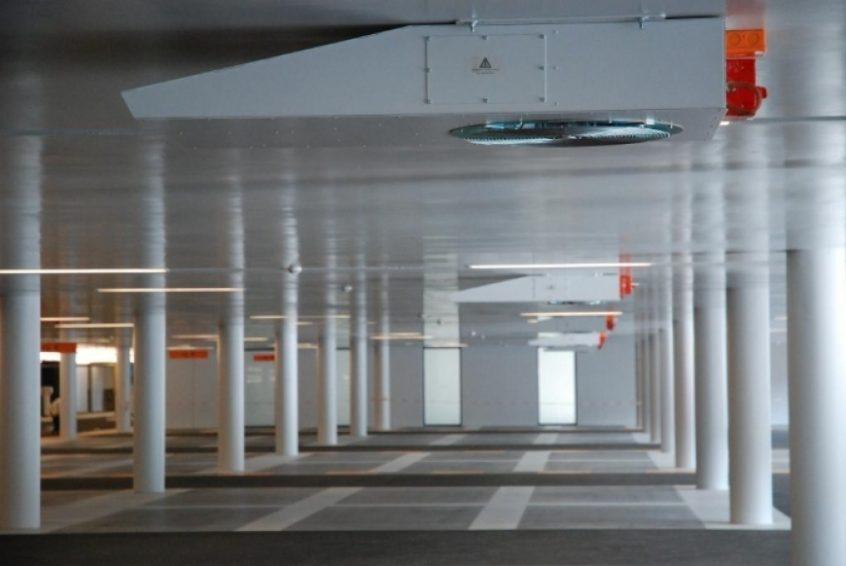 Stuwkracht ventilatoren parkeergarage ExcelTech